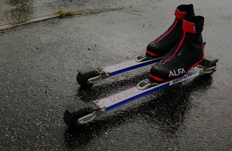 Roller ski boots for rain and shine